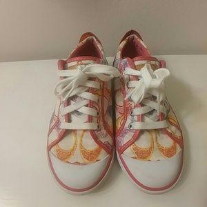Coach multicolor poppy sneakers